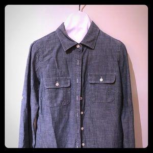 JCrew  blue jean shirt